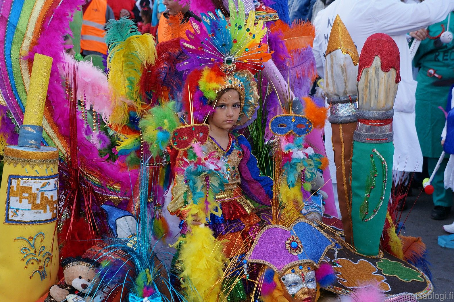 Image of child participating in the carnival
