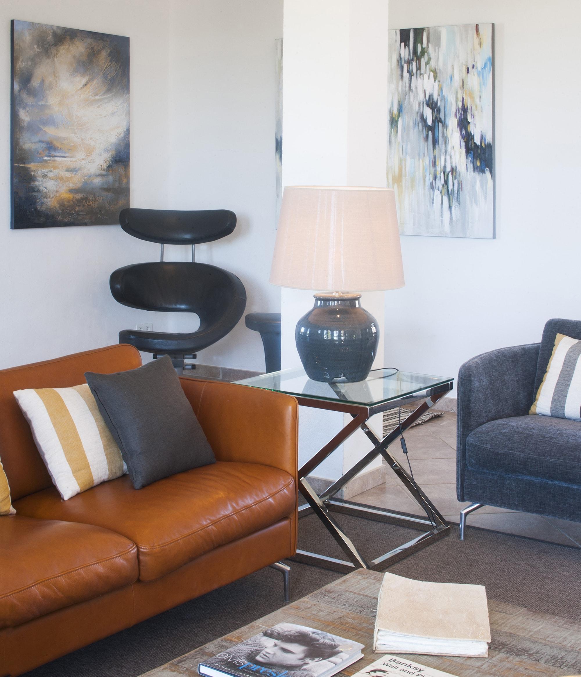 sitting room open plan luxury villa