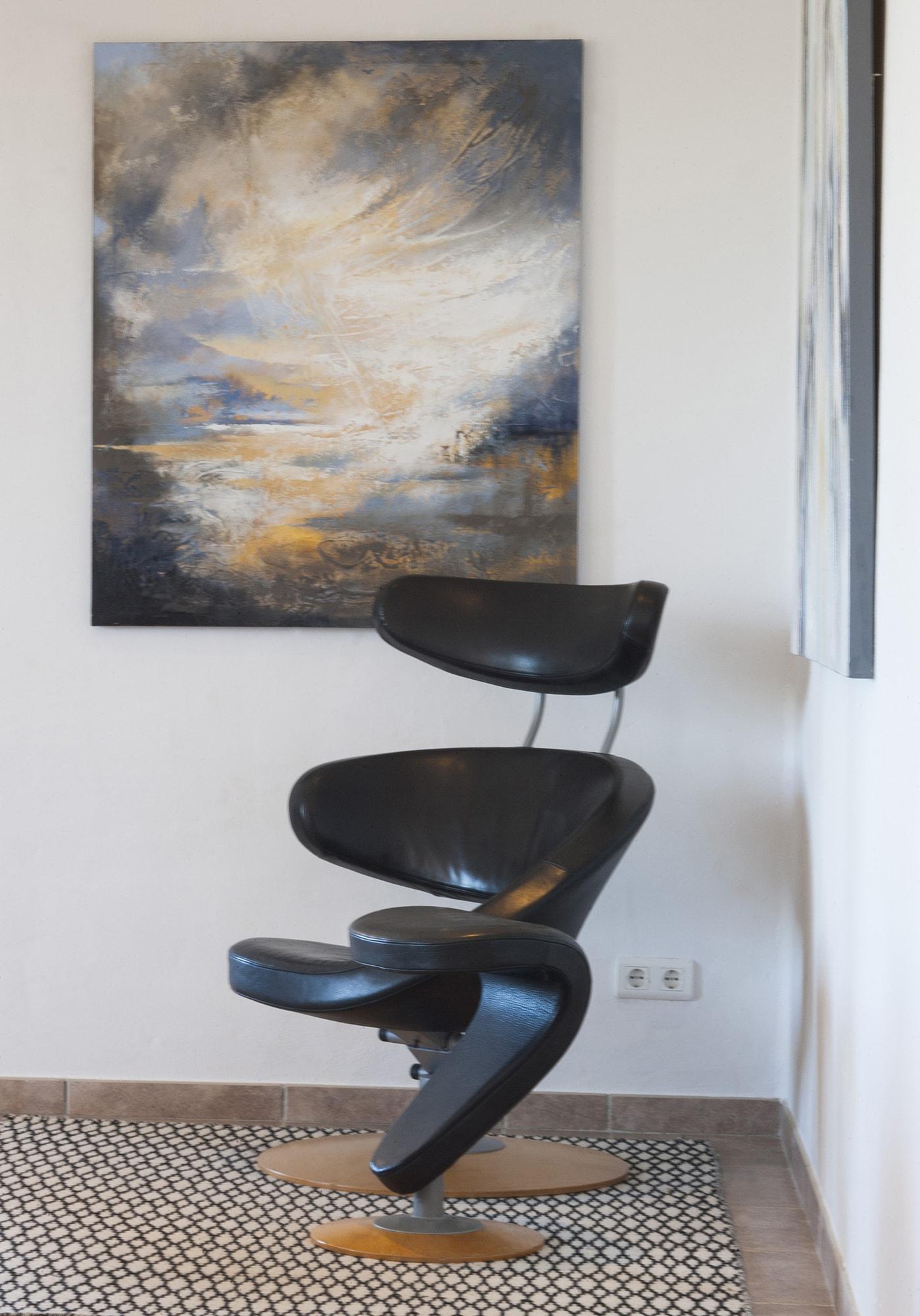 orange peel chair