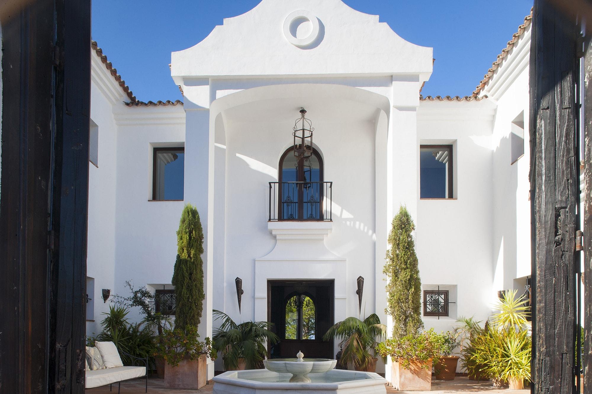 courtyard and facade villa spain