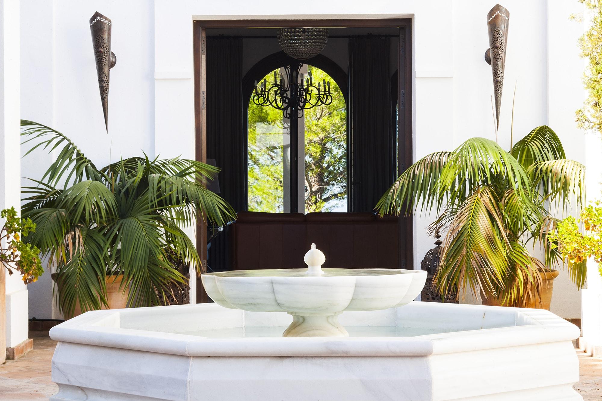 courtyard at luxury villa spain