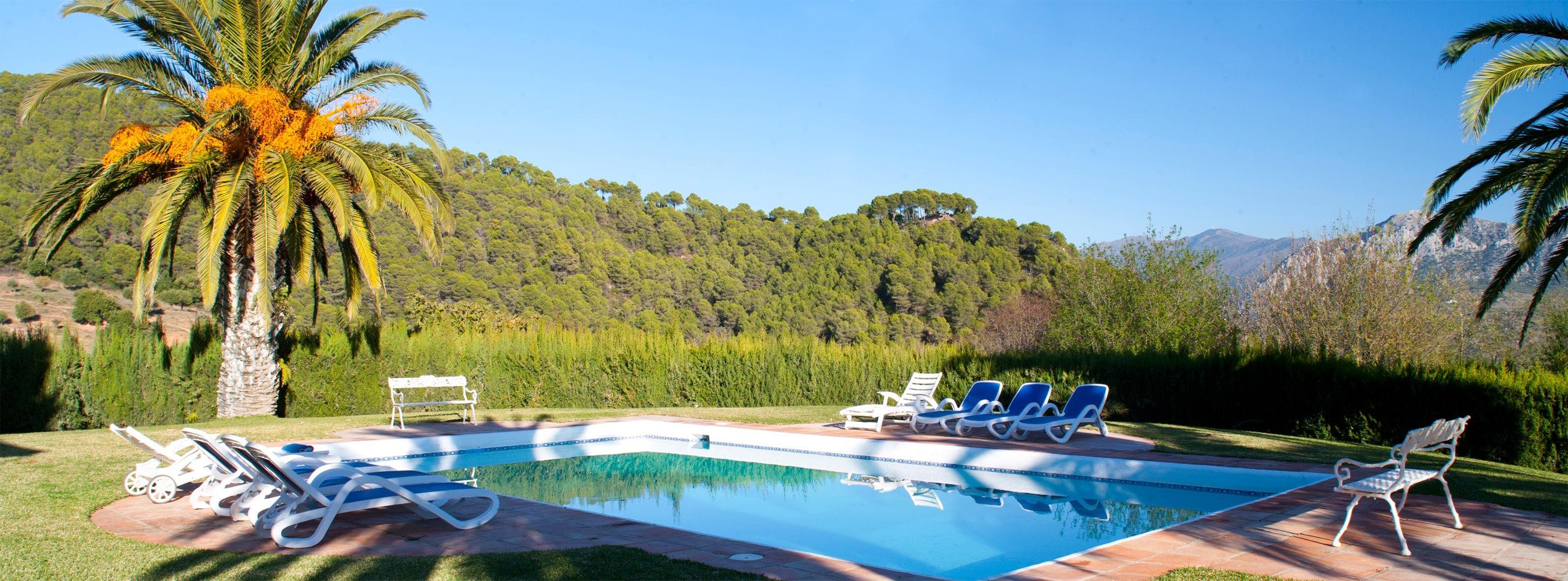 swimming pool and garden gaucin