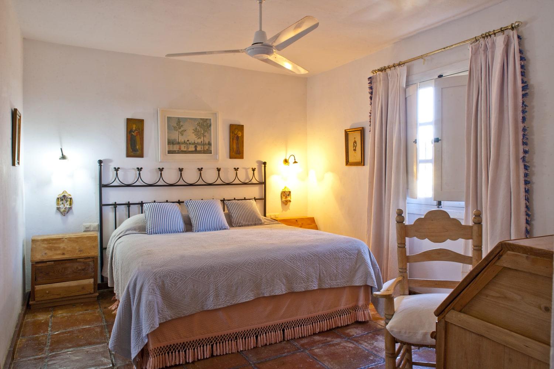 master bedroom in holiday villa