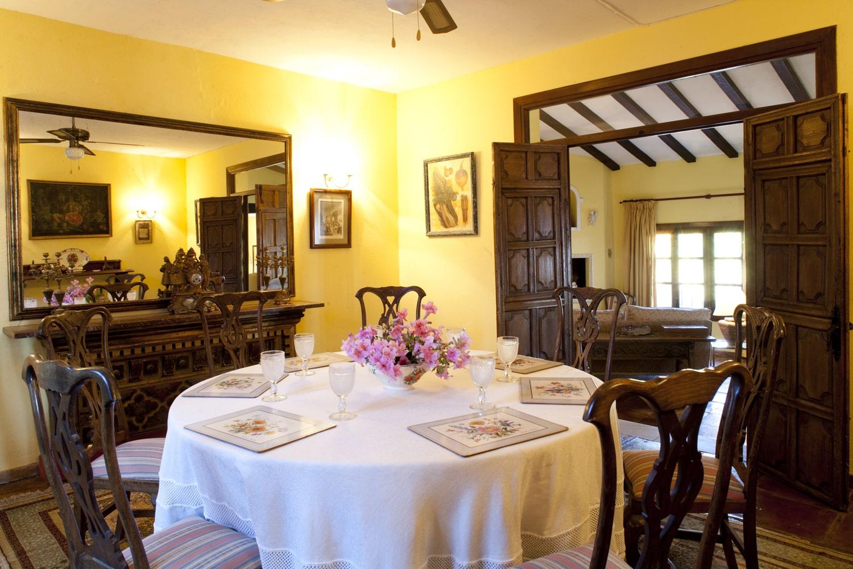 dining room in holiday villa