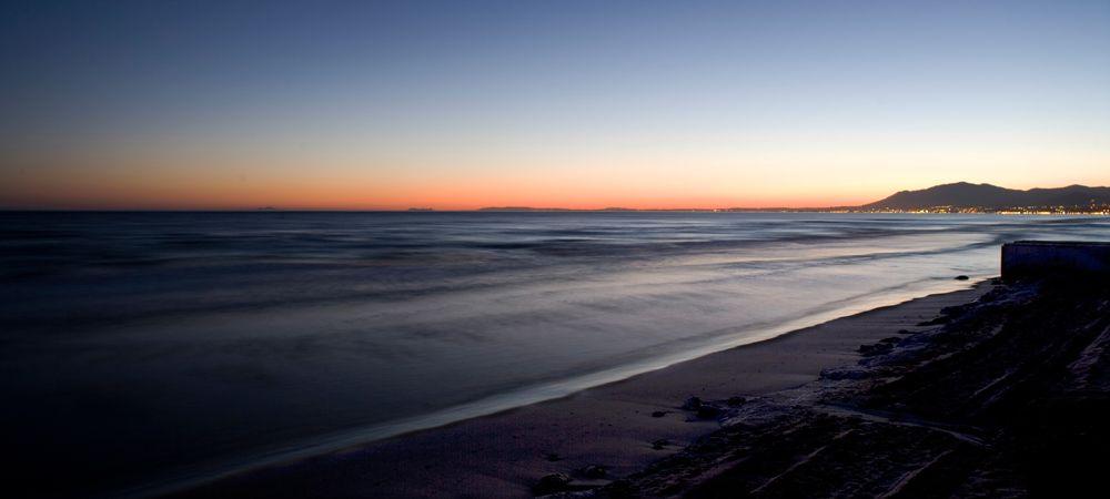 coast at estepona spain
