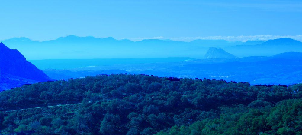 view from gaucin towards africa