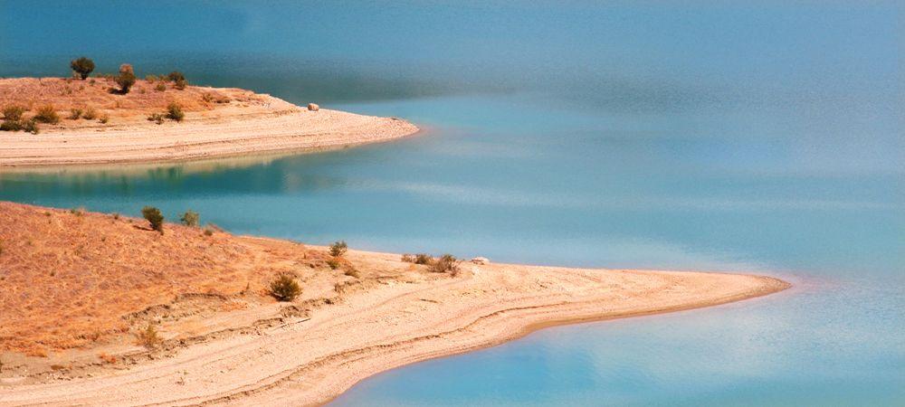 lake at zahara spain
