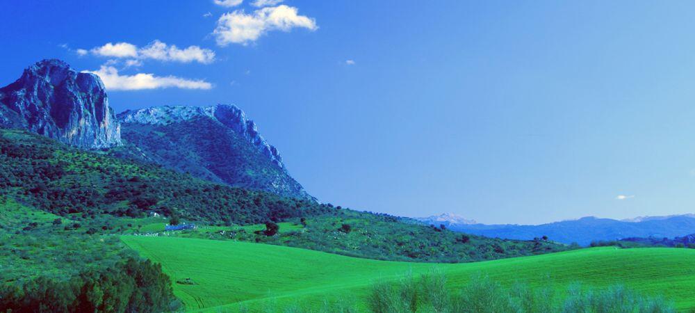 landscape near el gastor spain