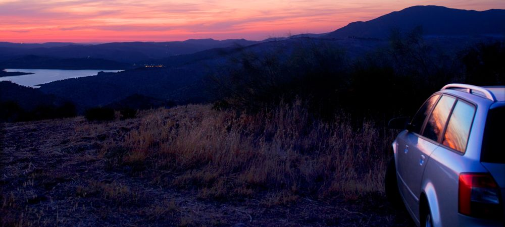 evening at lake zahara