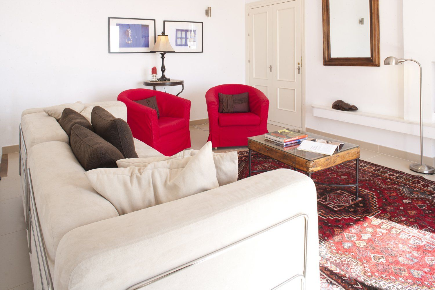 sitting room with sofas