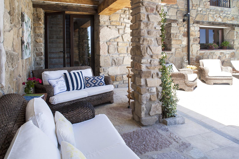 terrace by pool gaucin