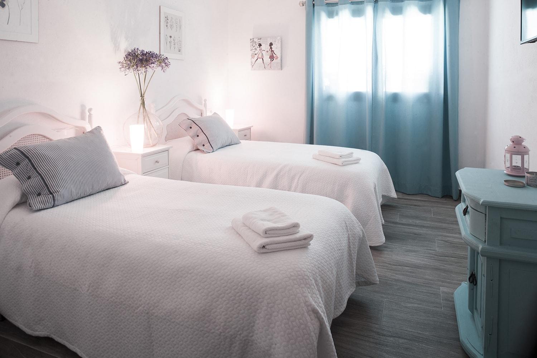 twin bedroom gaucin andalucia