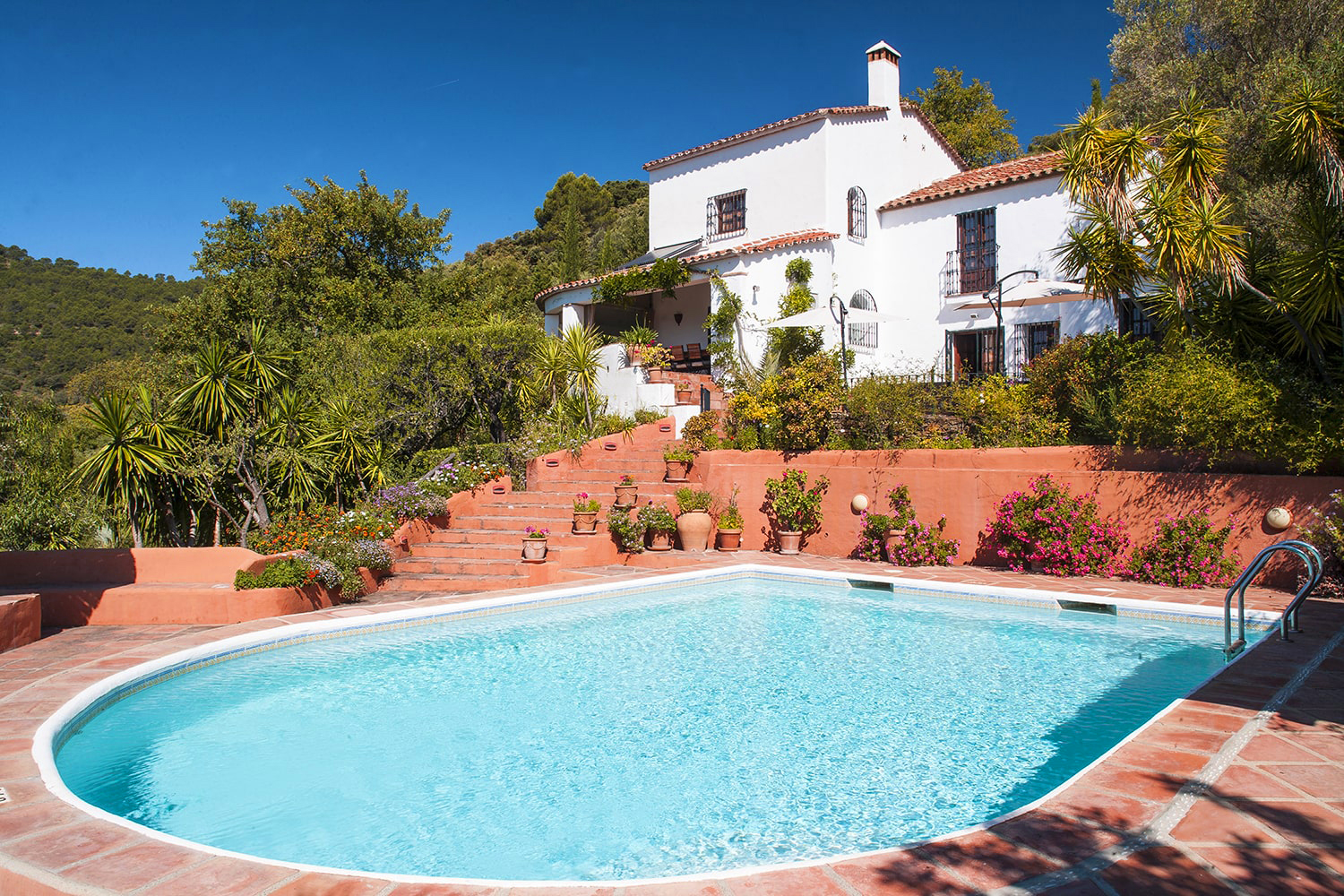 villa with private pool in gaucin