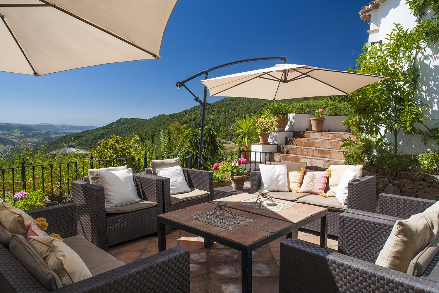 terrace with views andalucia