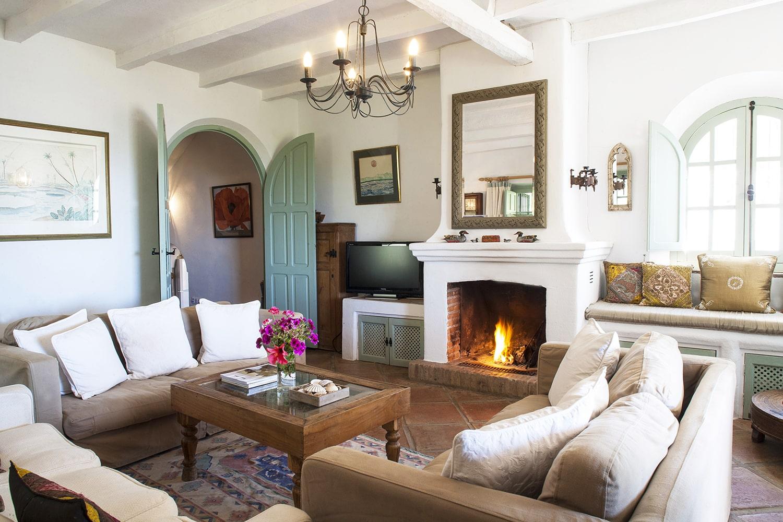 sitting room in holiday villa