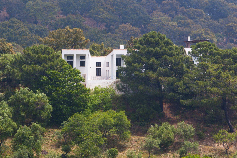villa in woods