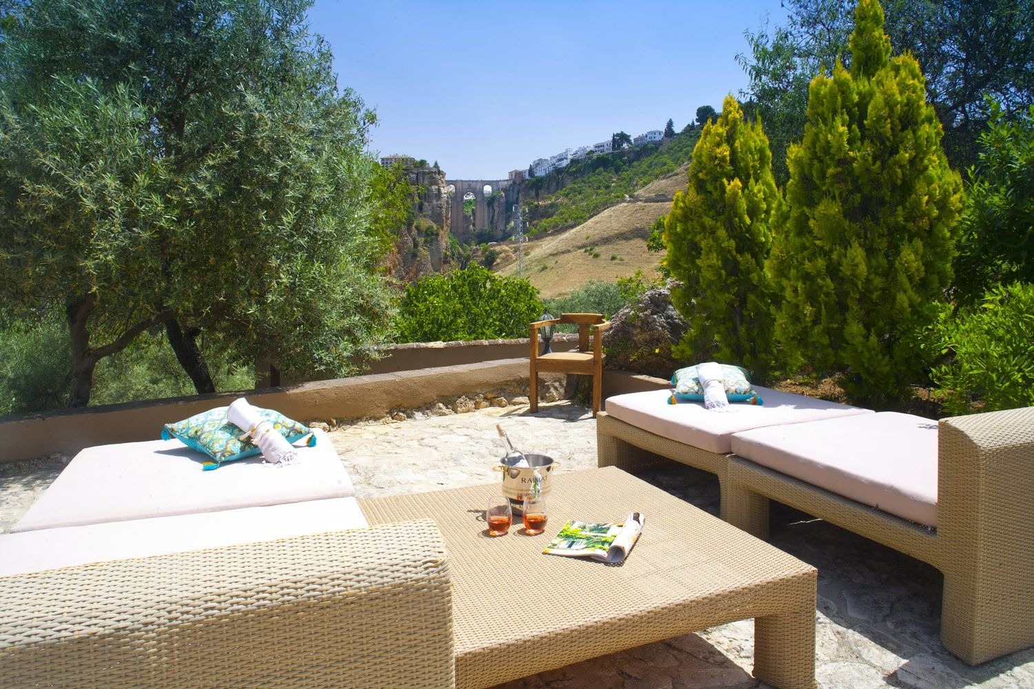 sunbathing with view of ronda