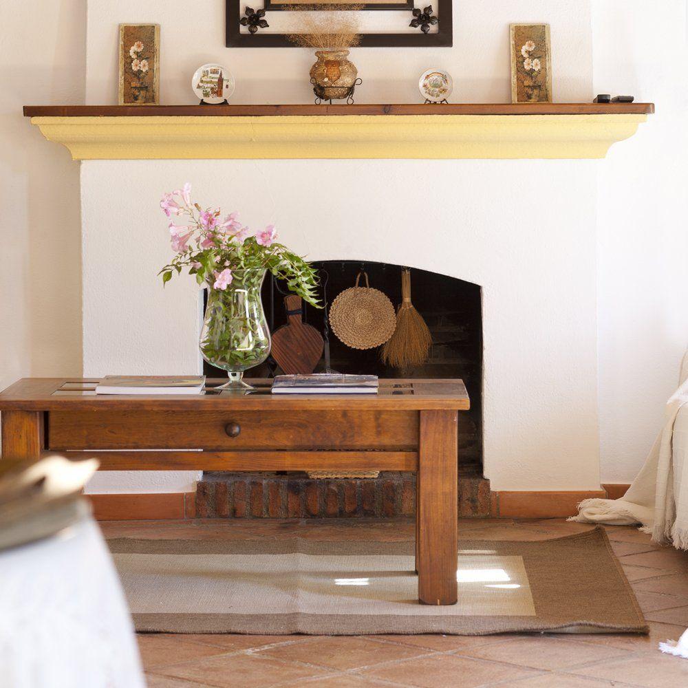 fireplace gaucin villa