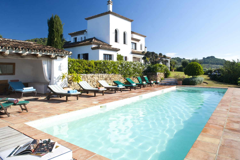pool and facade villa