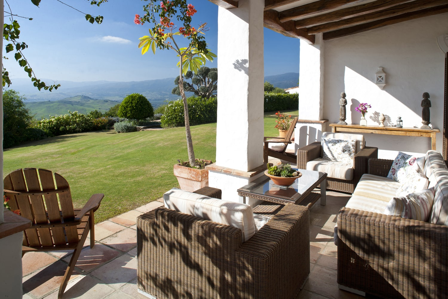 terrace with view in spain