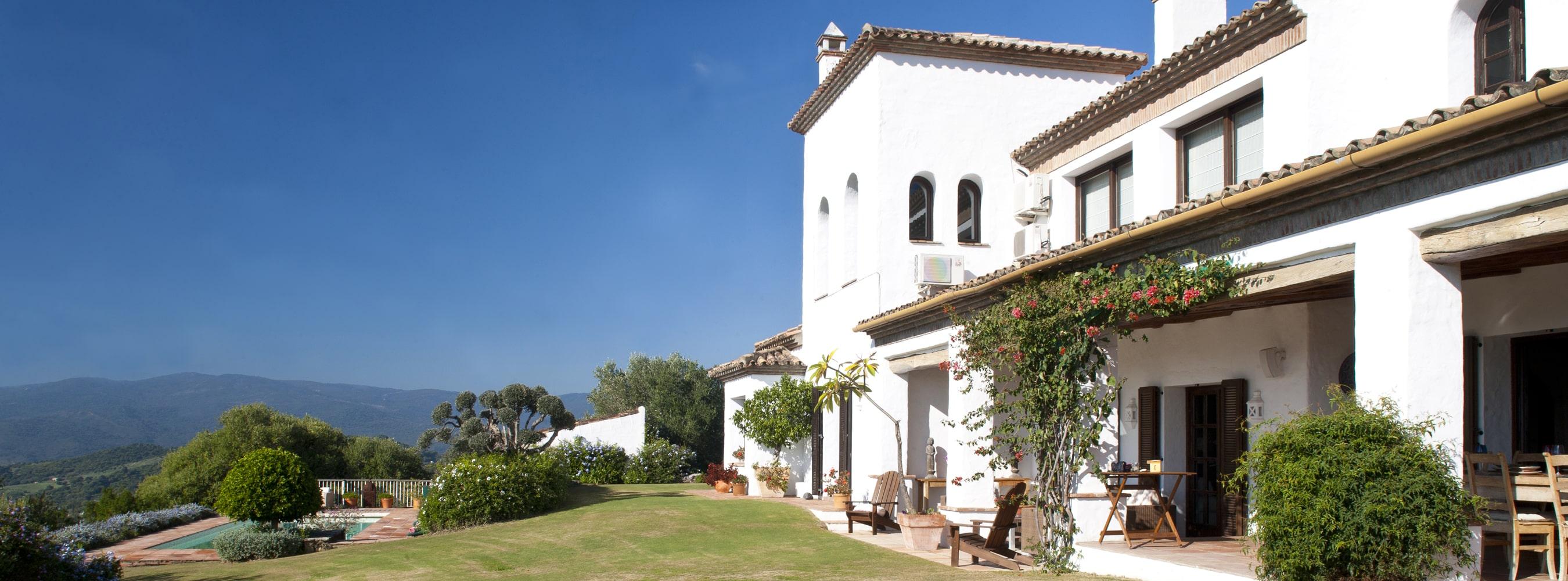 facade of villa in spain