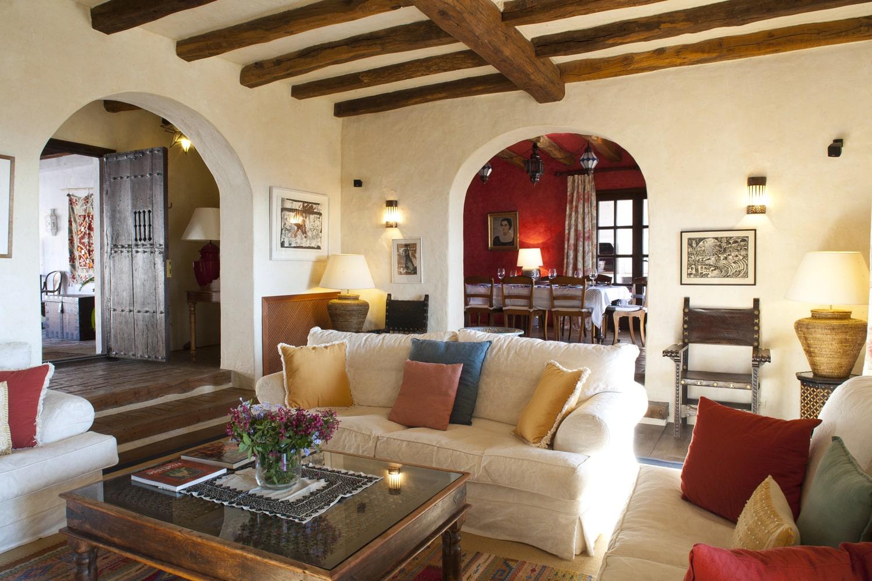 holiday villa sitting room