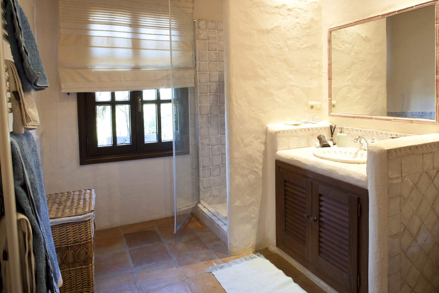 bathroom in holiday villa