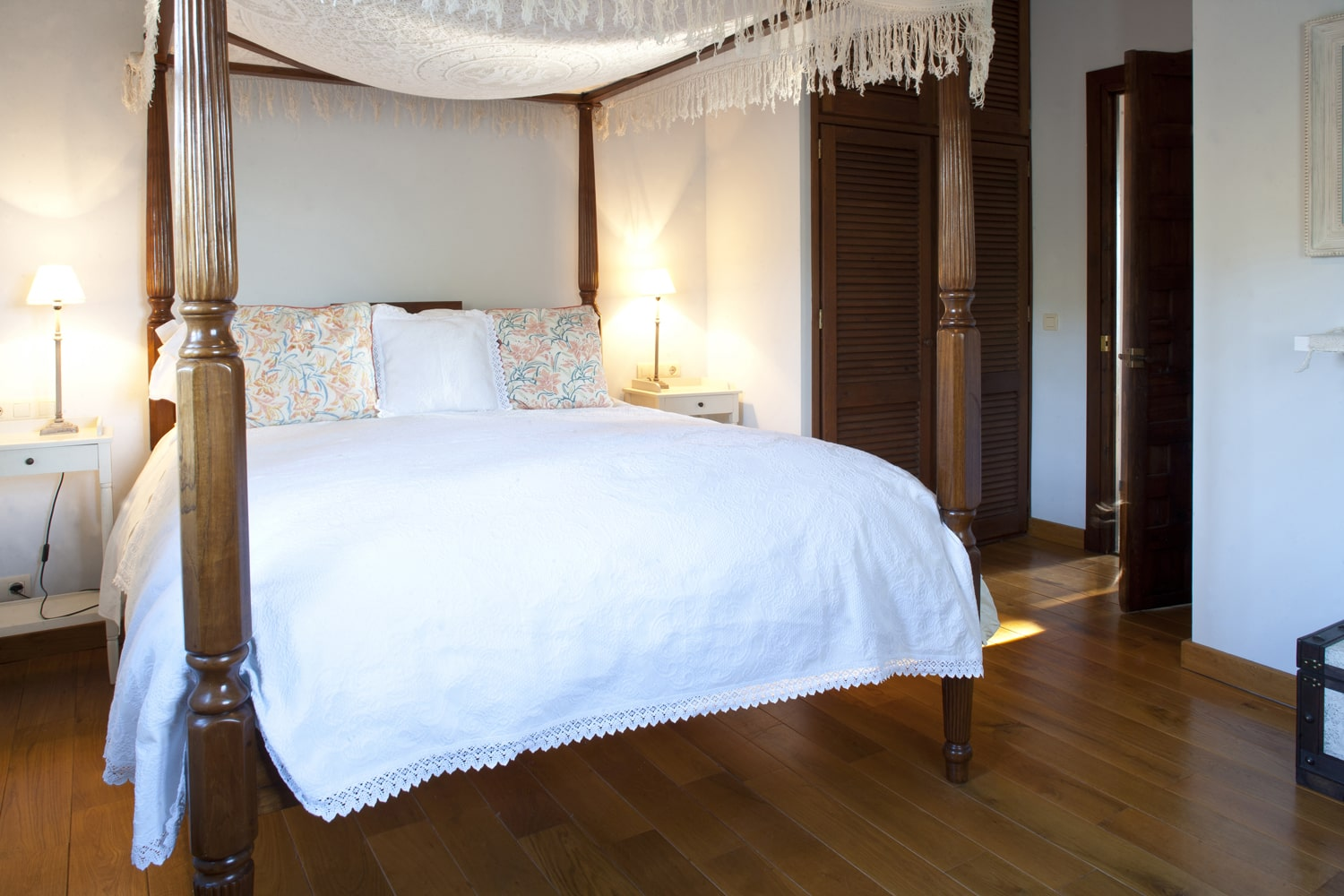 fourposter bed in  luxury villa
