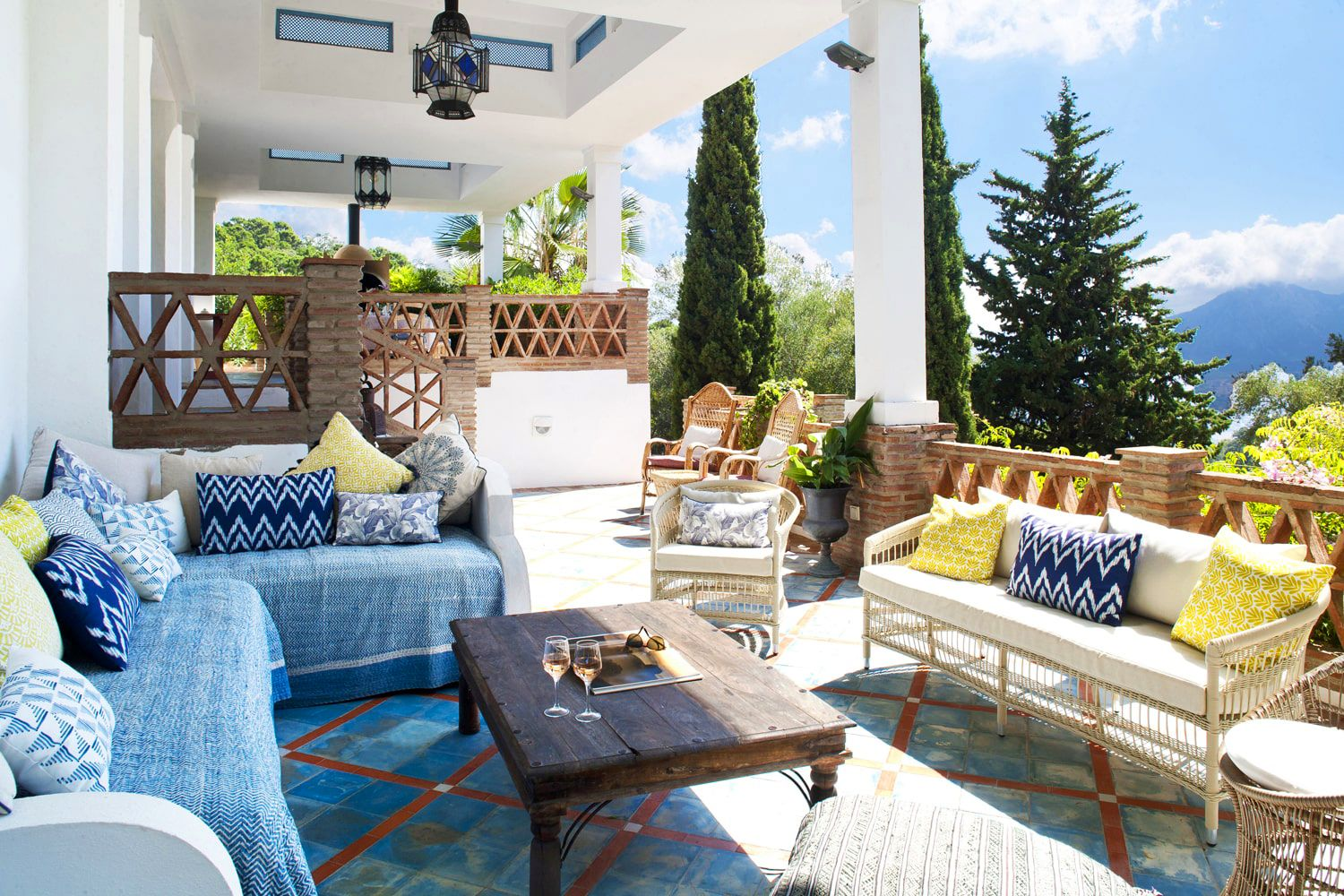 terrace with view of andalucia countryside