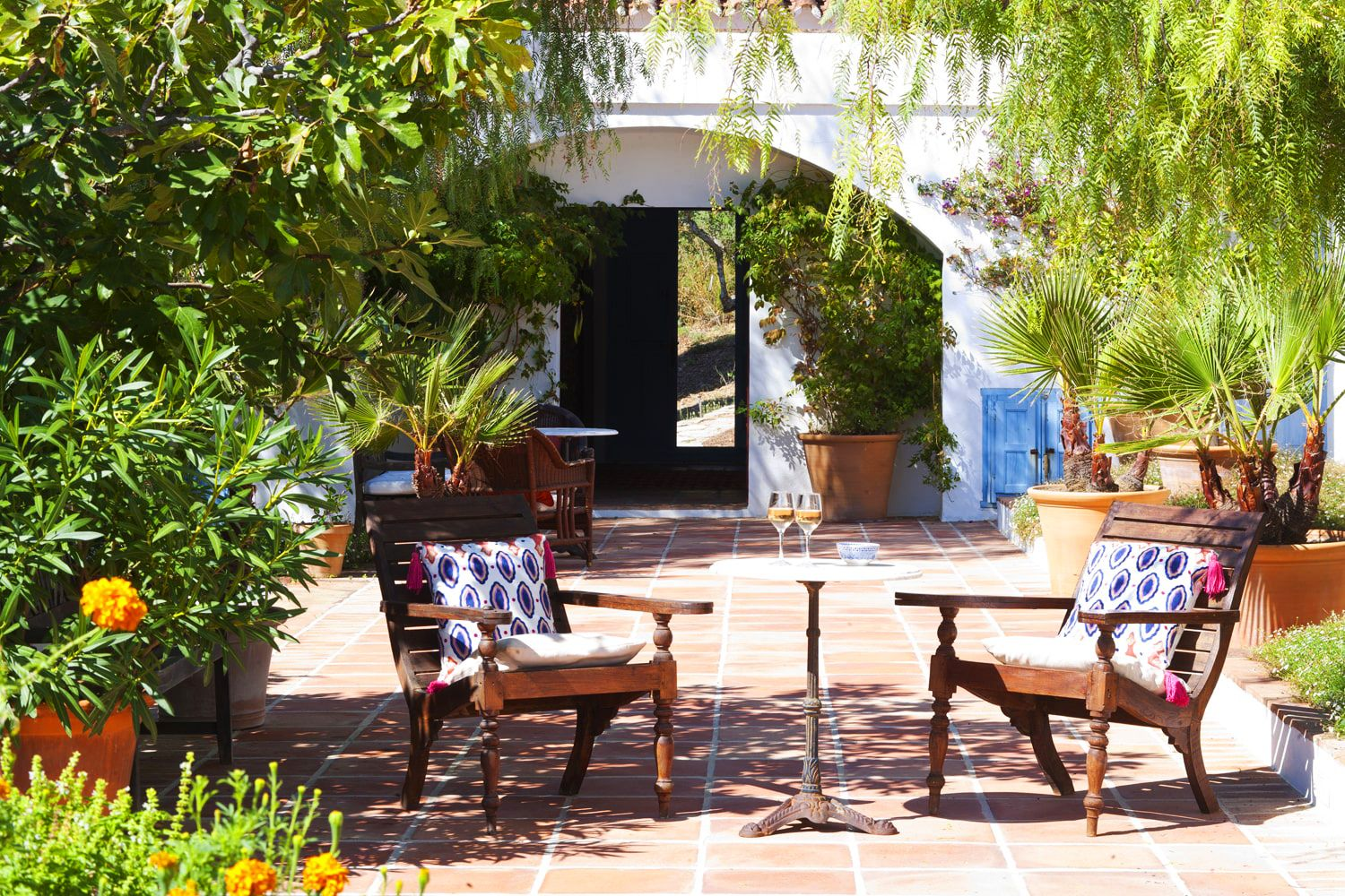 typical andalucian courtyard