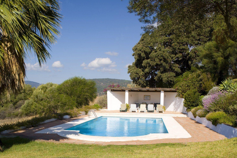pool house and pool