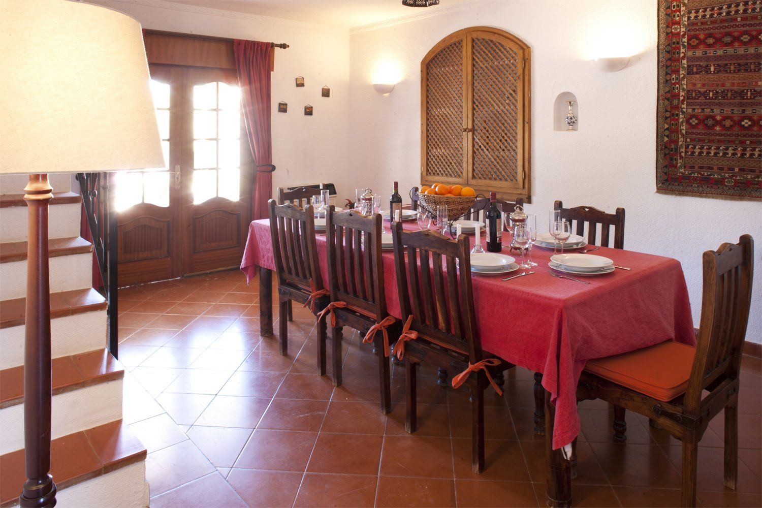 indoor dining room villa andalucia ronda