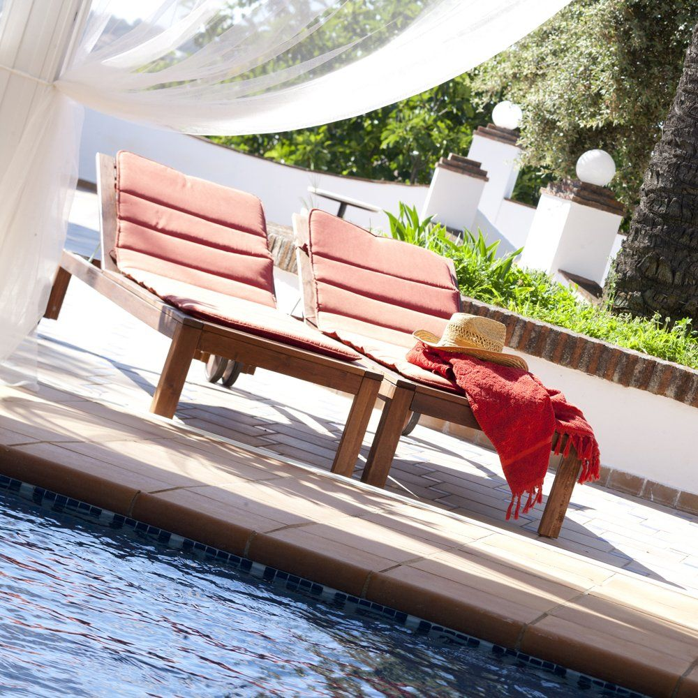 sunbeds at pool