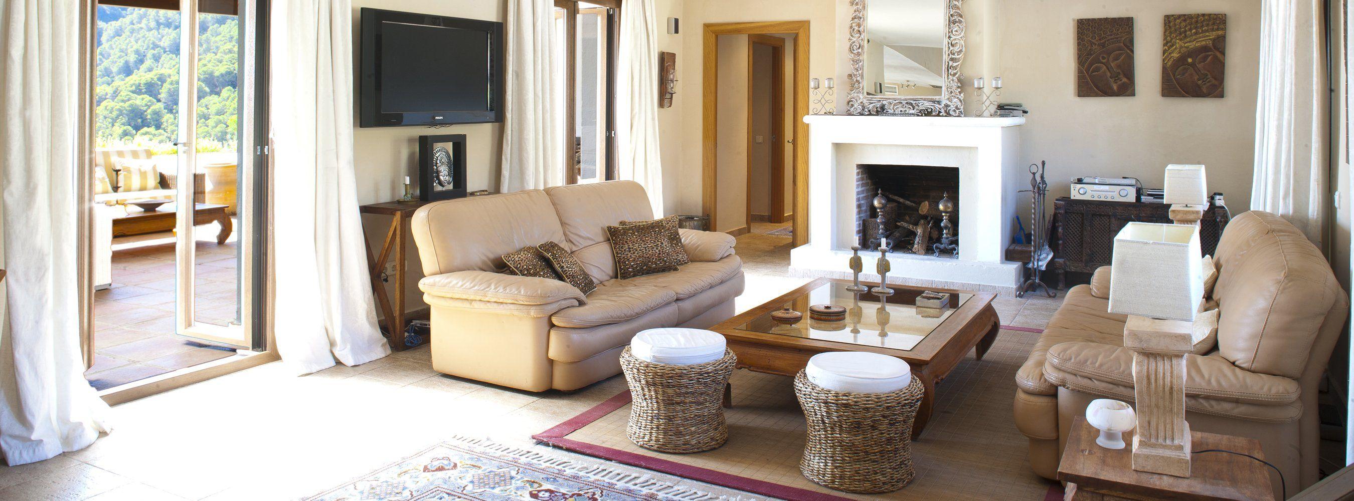 sitting room in villa