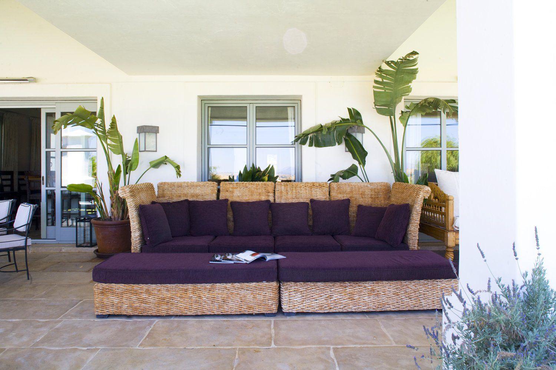 covered terrace on luxury villa ronda