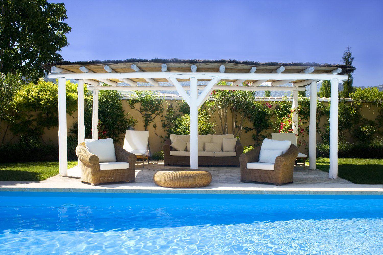 pool house at luxury villa