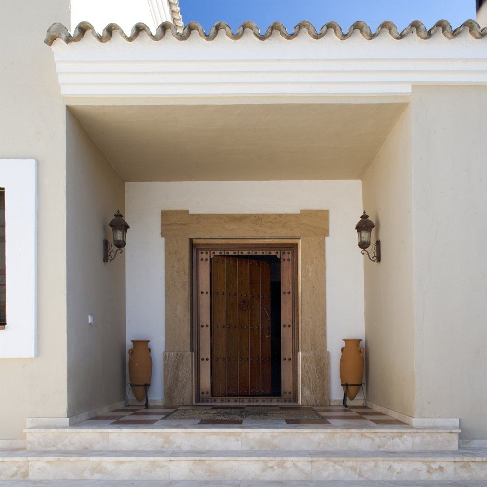 front door of luxury villa in ronda