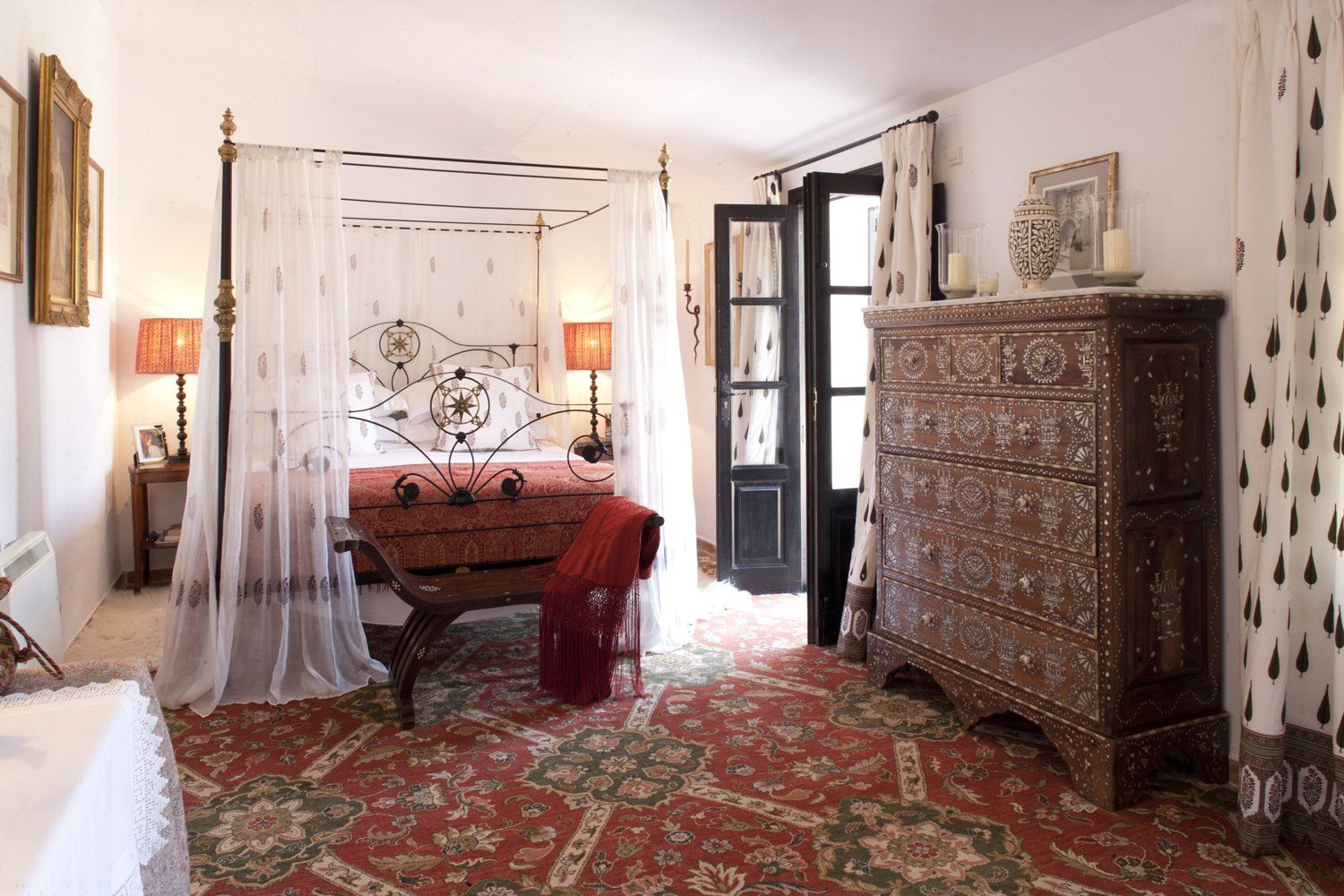 luxury bedroom at el ventorillo