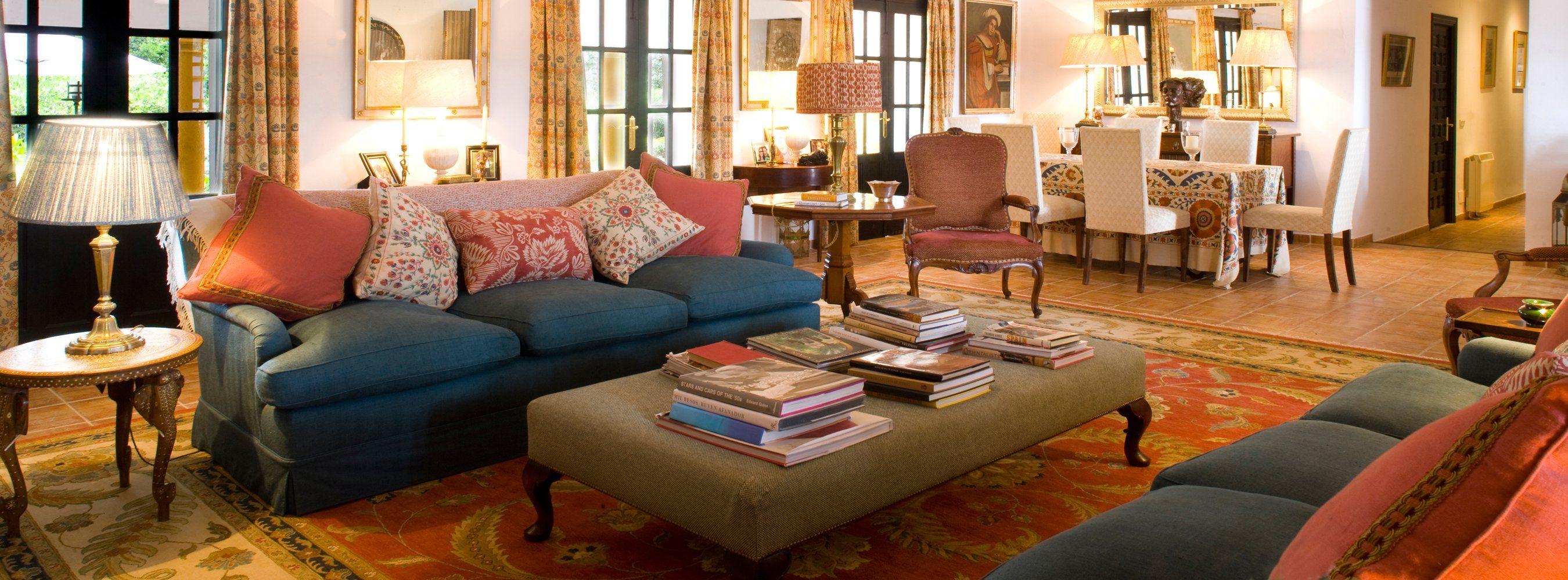 sitting room in luxury villa  ronda