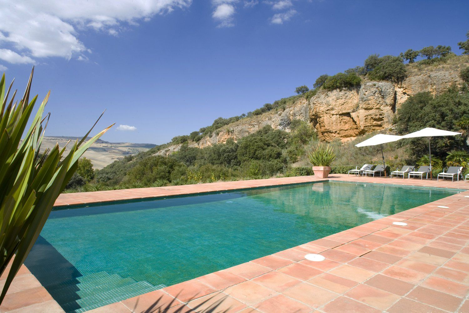 pool and escarpment