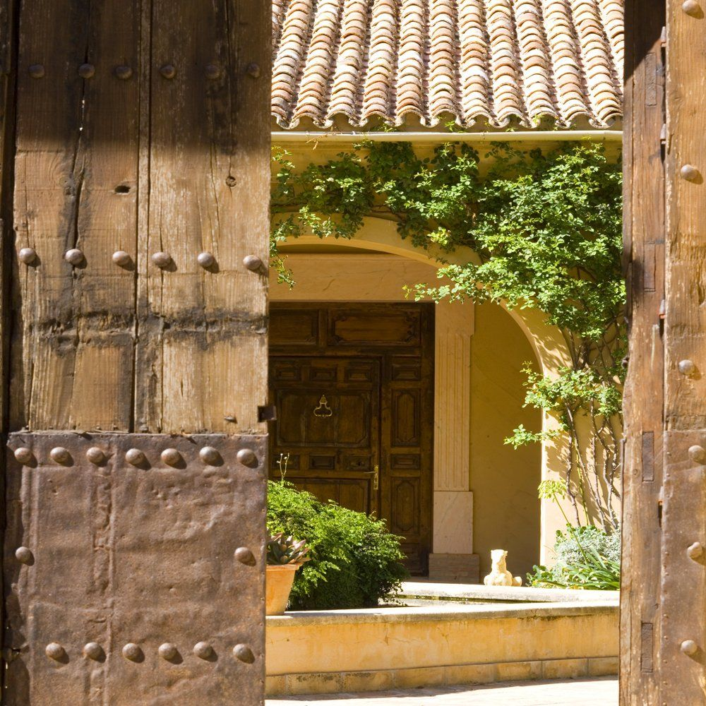 front door to courtyard