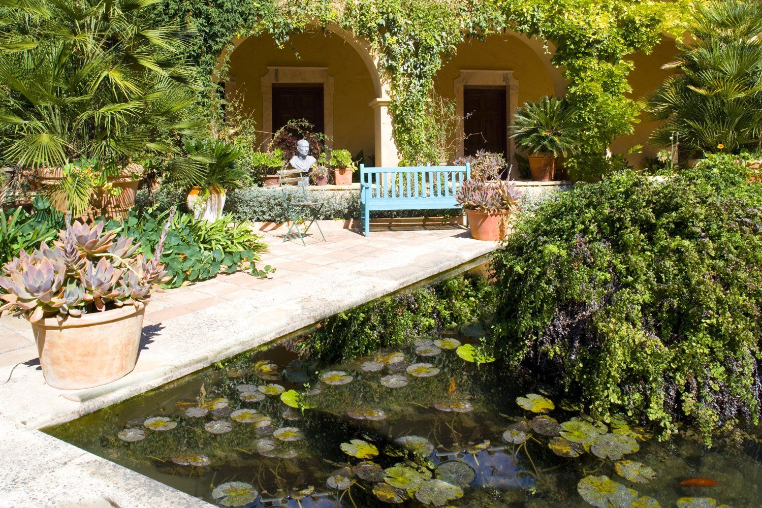 courtyard with pond