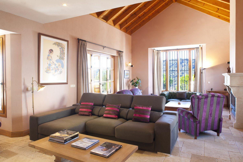 siting room in luxury villa