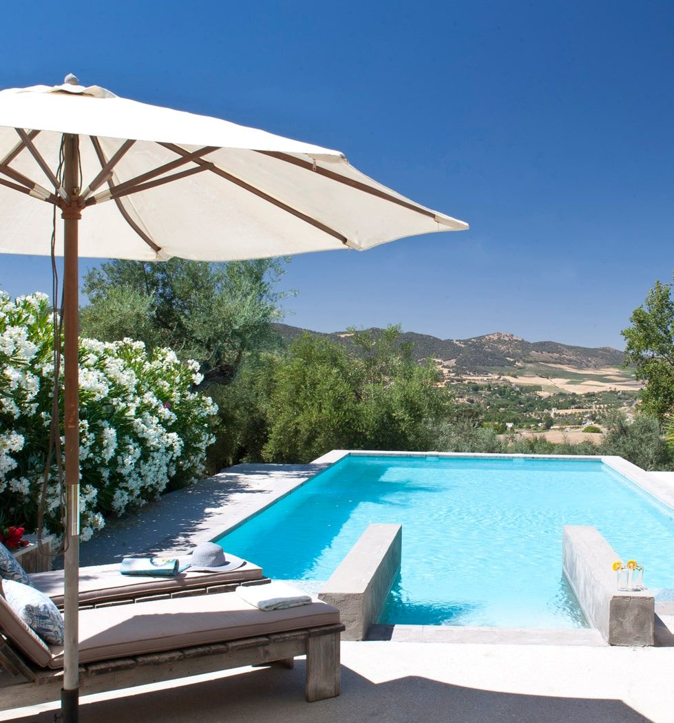 luxury modern villa and pool ronda