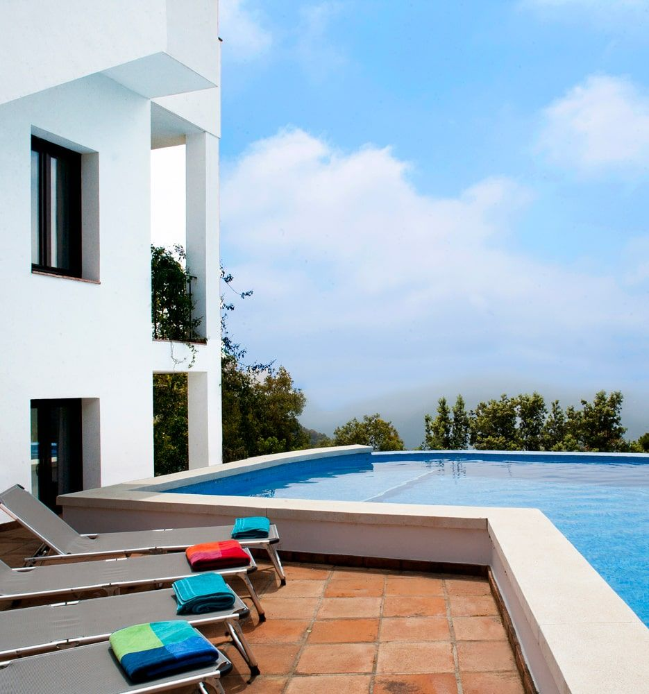 lap pool and view in andalucia