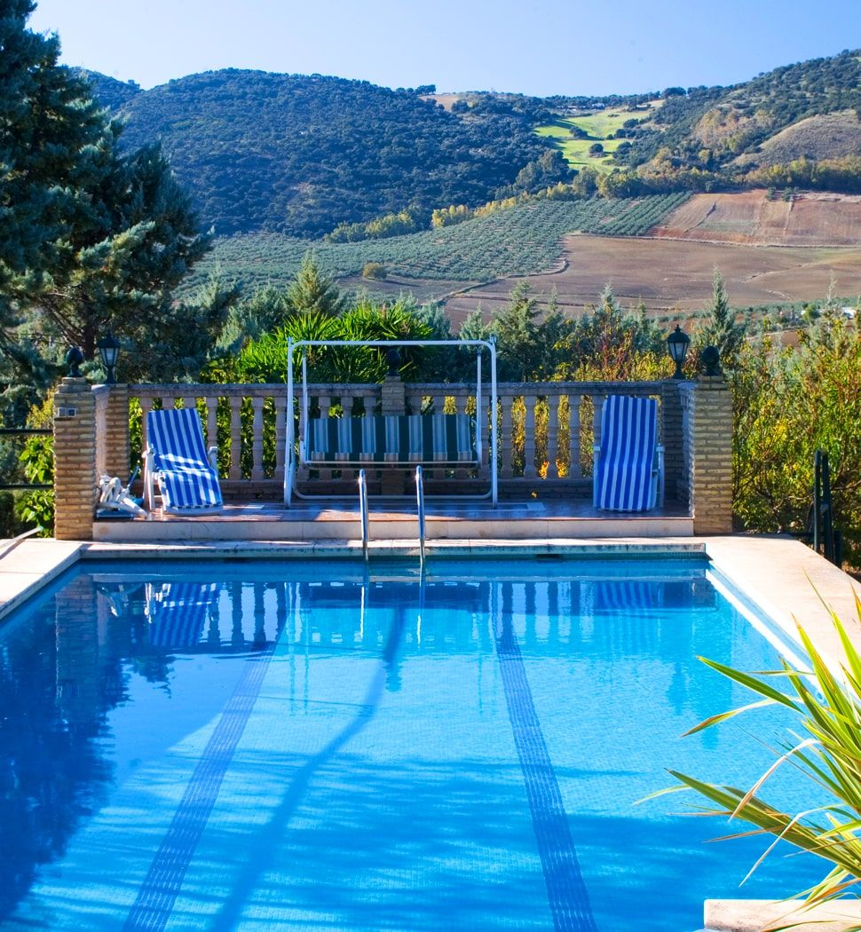 villa with pool and view ronda