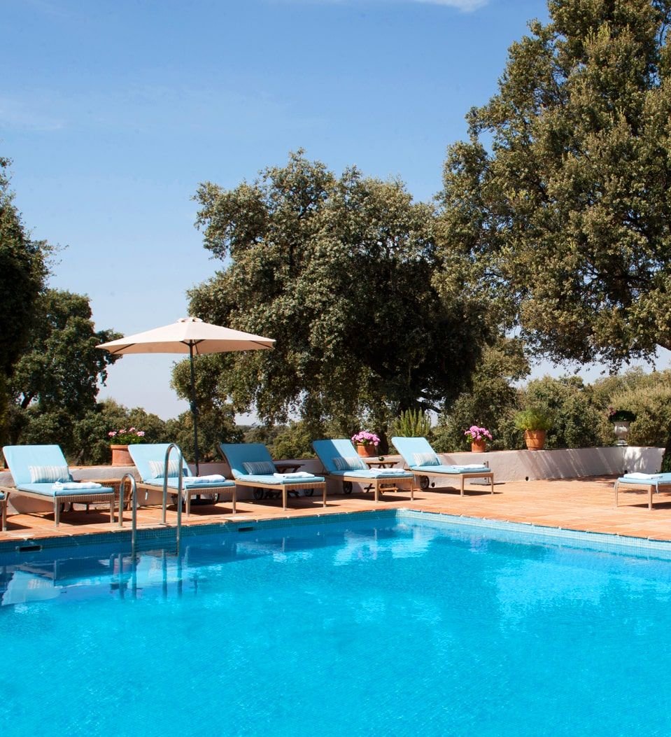 luxury pool in countryside andalucia