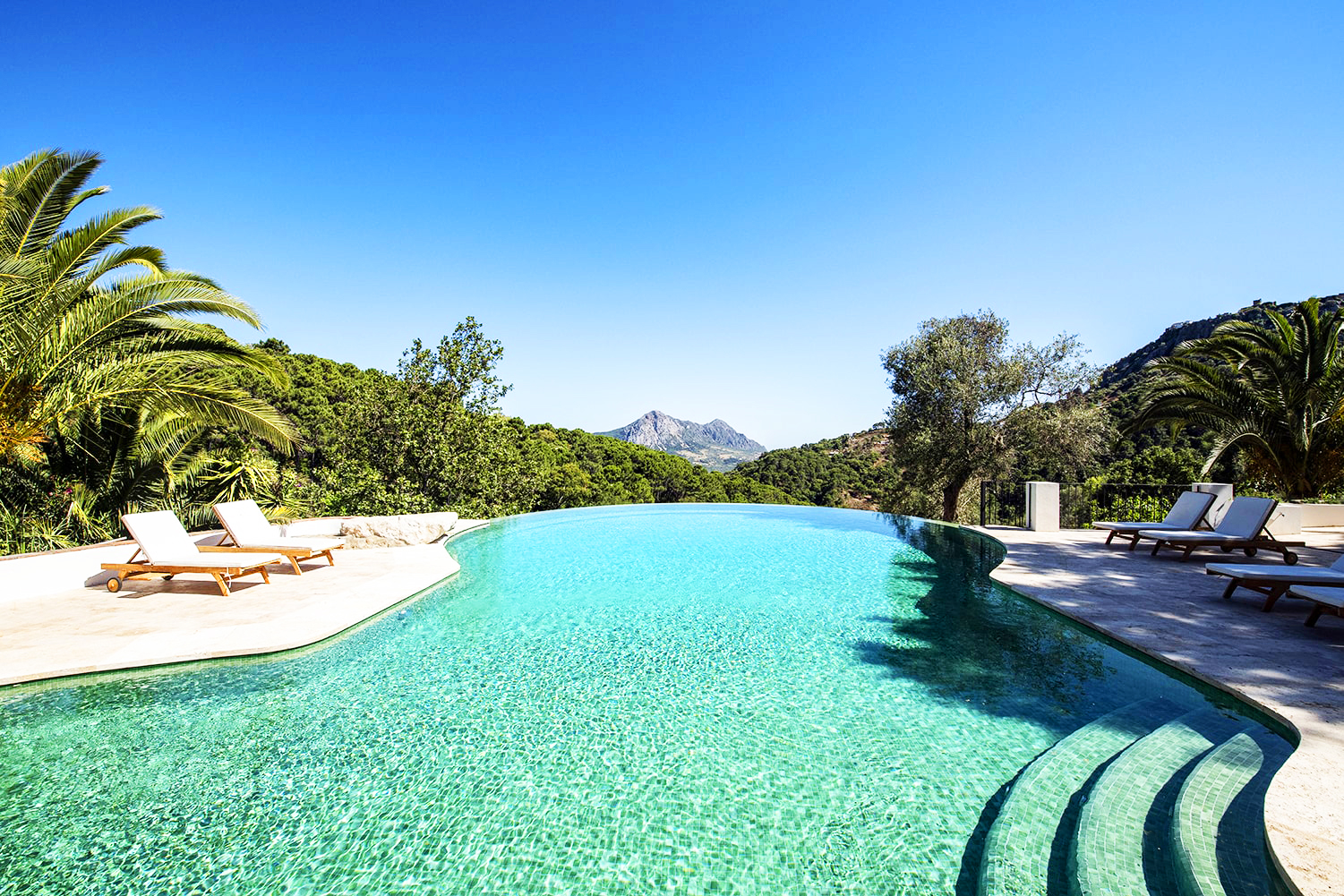 private pool at luxury villa in andalucia