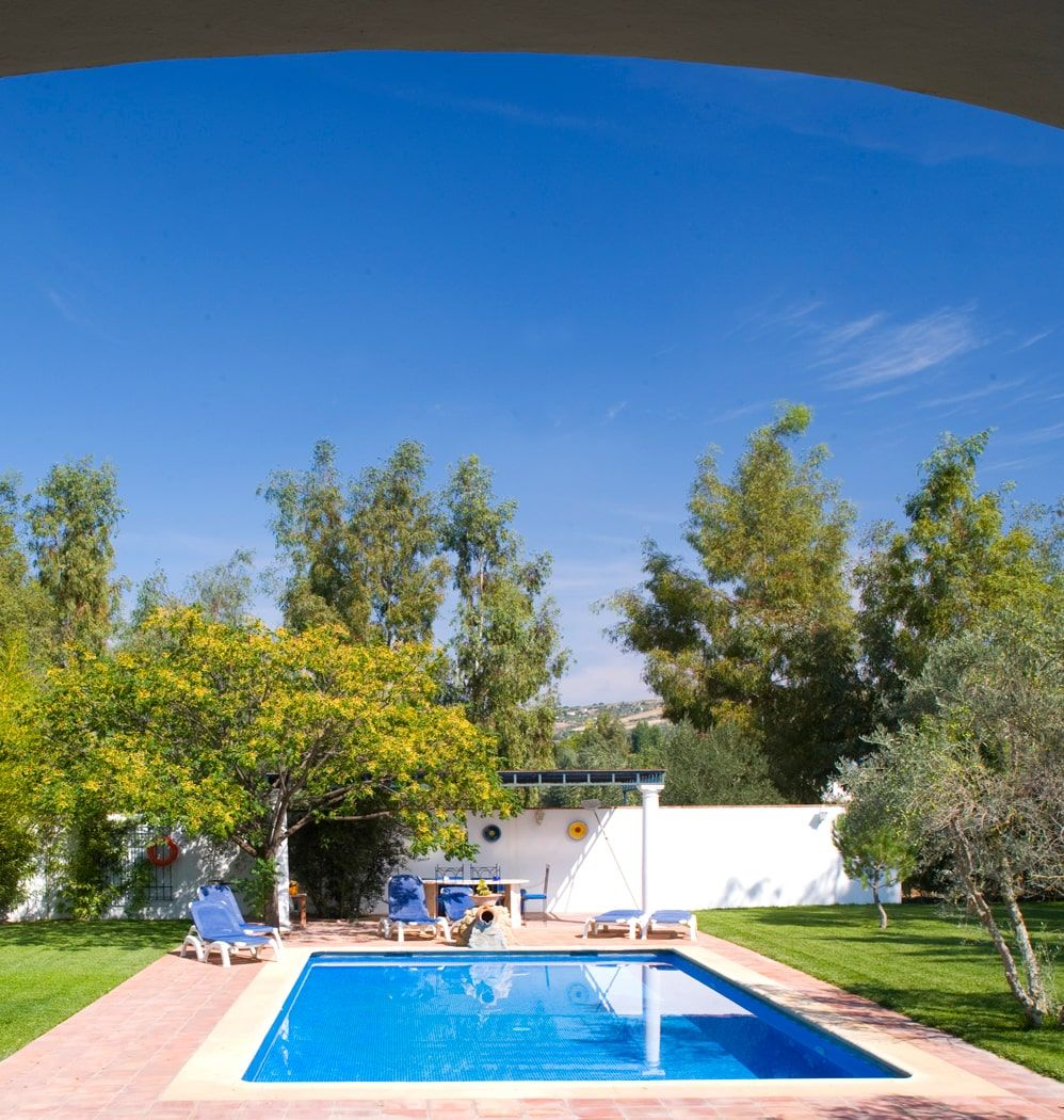 pool and lawned garden villa ronda