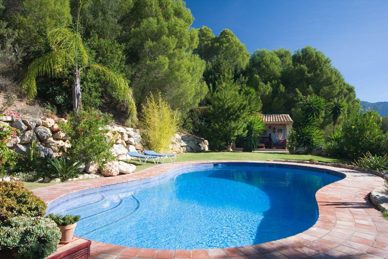house and heated pool